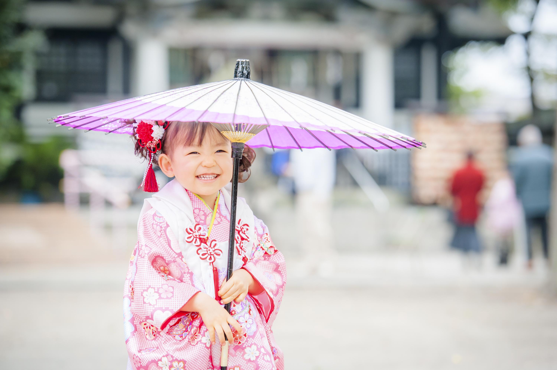 七五三 出張撮影 亀有香取神社 和傘 女性カメラマン 横浜