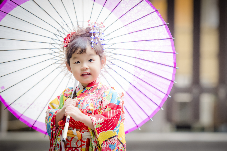 七五三 出張撮影 明治神宮 3歳 女の子 和傘 女性カメラマン 横浜