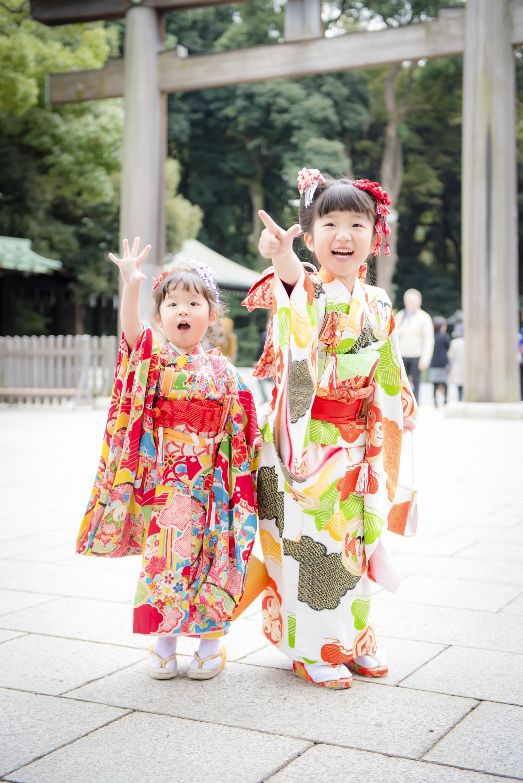 七五三 出張撮影 明治神宮 姉妹 笑顔 女性カメラマン 横浜