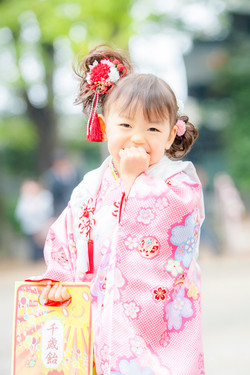 七五三 出張撮影 亀有香取神社 可愛い 女性カメラマン 横浜