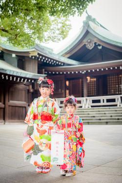 七五三 出張撮影 明治神宮 姉妹 女性カメラマン 横浜