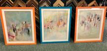 3 framed works on paper
