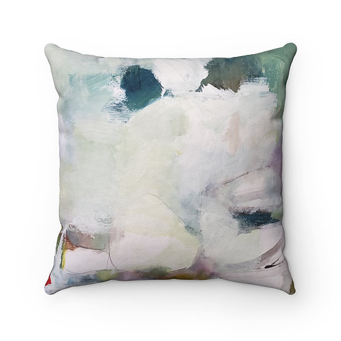 On the Water Spun Polyester Square Pillow