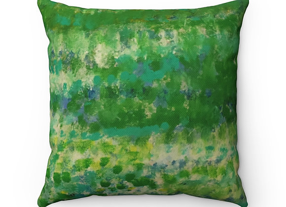 In the Garden Spun Polyester Square Pillow
