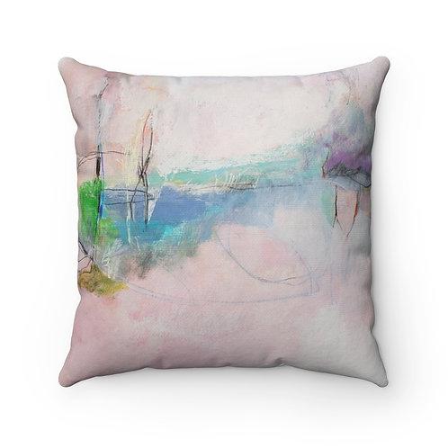 Pink Thunder Spun Polyester Square Pillow