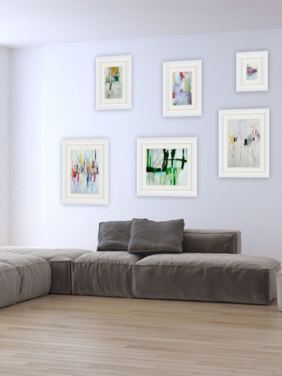 Group of paintings on paper