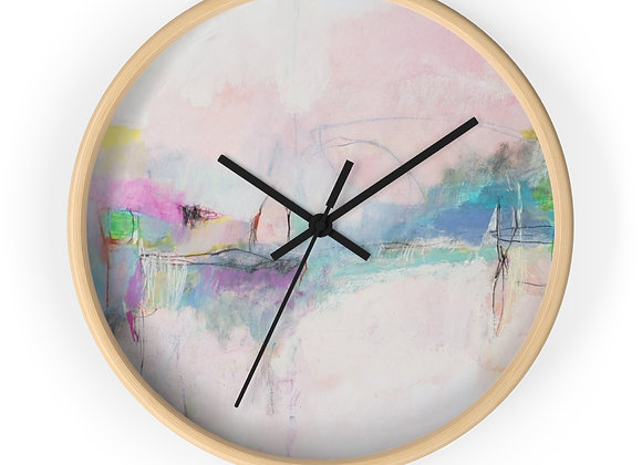 Pink Thunder Wall Clock