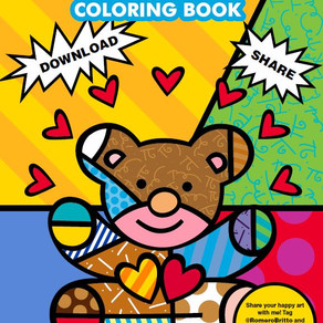 Romero Brito made a coloring book for kids in quarantine. Fun for kids age 1 to 100. Thanks Brito!