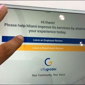 RATE & GRADE CITY OF MIAMI EMPLOYEES & DEPARTMENTS AT THE NEW CITYGRADER KIOSKS!