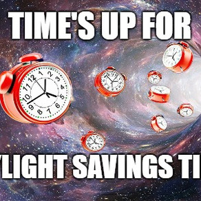 TIME'S UP FOR DAYLIGHT SAVINGS TIME IN FLORIDA