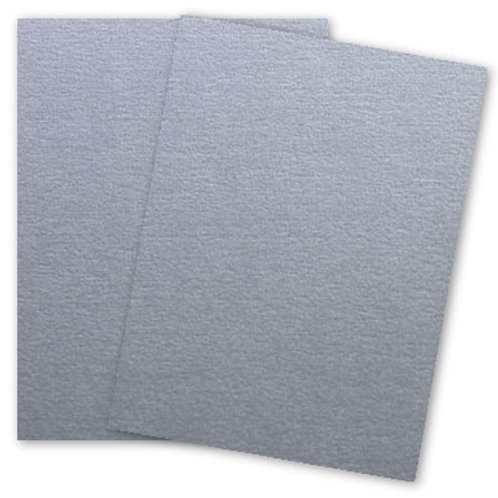 Metallic Silver GALVANISED Card Stock