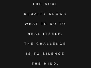 Find the Time to Seek Silence...