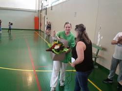 remise du bouquet à Marjorie