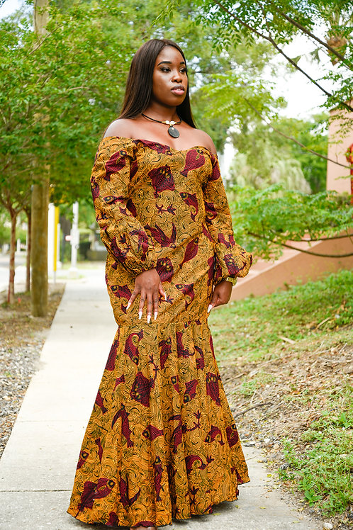 Maxi African Dress