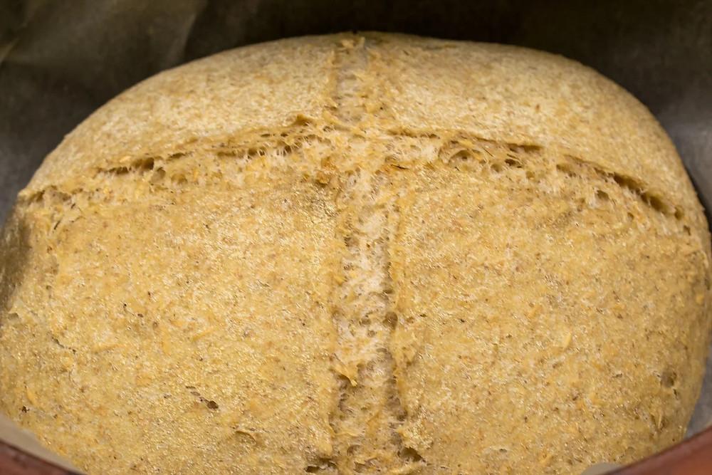 Σπιτικό Κρίθινο ψωμί στη γάστρα