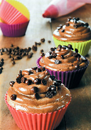 Cupcakes τριπλή σοκολάτας