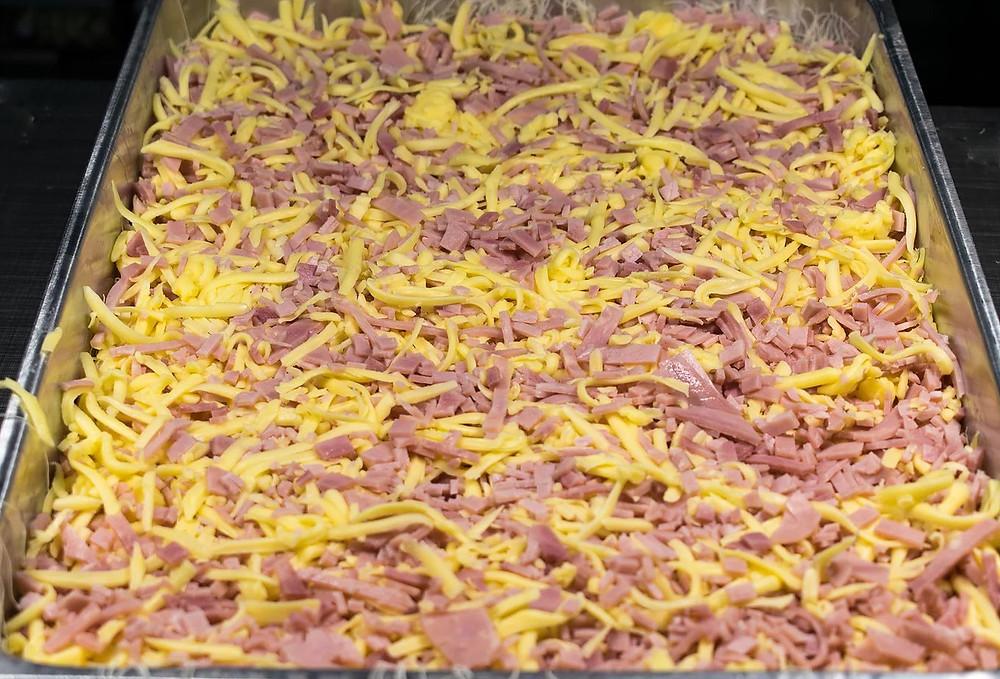 Αλμυρό κανταΐφι με τυριά ζαμπόν και κρέμα