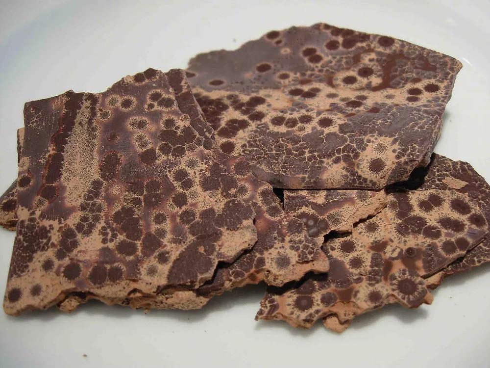 Ελαττώματα κατά την επεξεργασία της Σοκολάτας Fat Bloom