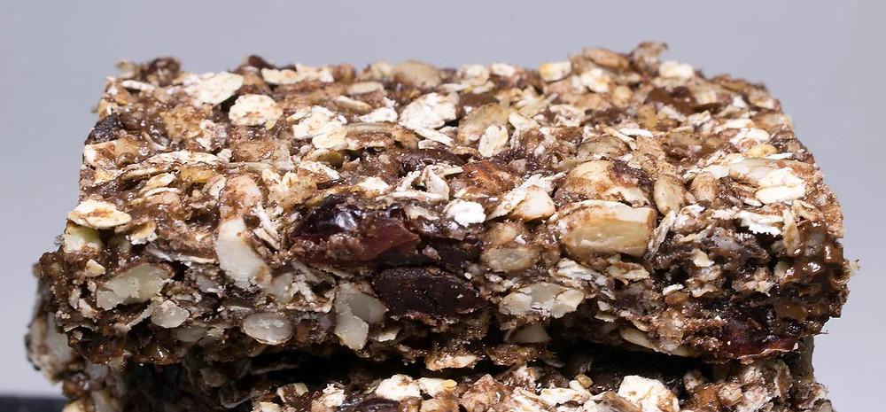 Τραγανές μπάρες δημητριακών σοκολάτας