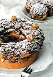 Paris Brest με mousseline πραλίνας φουντουκιού και σοκολατένια κρούστα