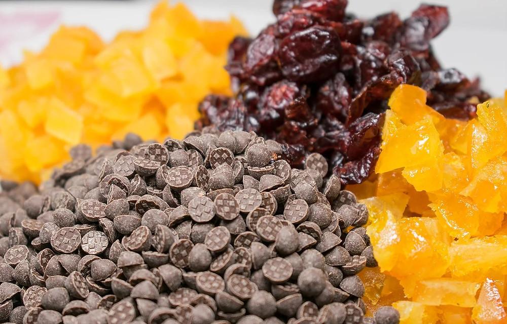 Βασιλόπιτα με αποξηραμένα φρούτα και κρέμα κάστανο