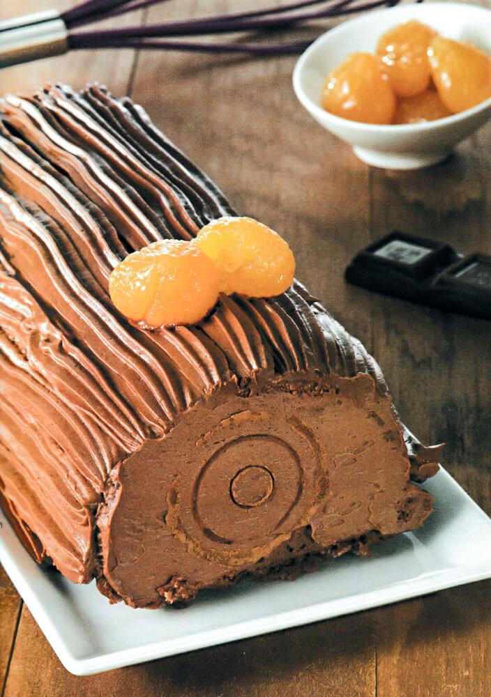 Κορμός κάστανο με σοκολάτα