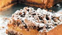 Τάρτα σοκολάτας με βερίκοκα και crumble