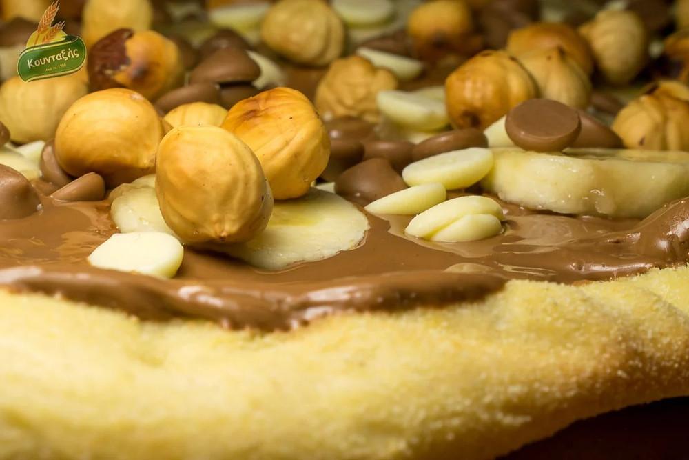 Πίτσα σοκολάτας με τραγανή ζύμη