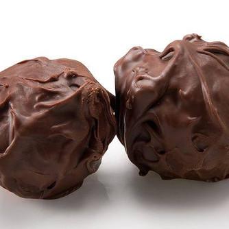 Τρούφες με σοκολάτα και ρούμι (μαλακές)