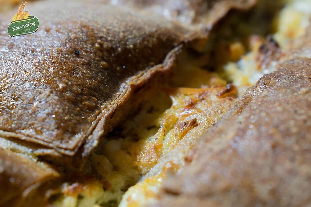 Τυρόπιτα με φύλλο πίτας ολικής