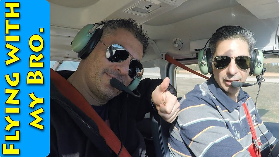 Flying with my Bro.