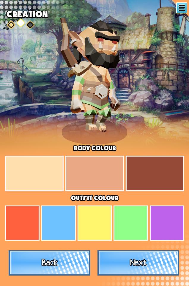Mobile: Character Creator