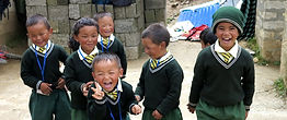 Namche Bazaar school children