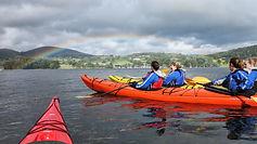 Group kayaking on Ullswater