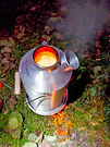 Our Kelly Kettle joins us on all trips providing hot water for cooking washing up and even filling our shower bags!