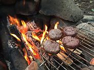 Cooking on an open fire