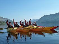 group kayaking Ullswater