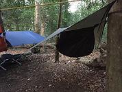 Hammock and tarp bivy Ullswater in the Lake District
