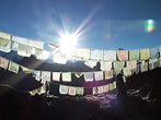 Prayer flags next to Everest