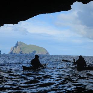 Exploring the St Kilda caves