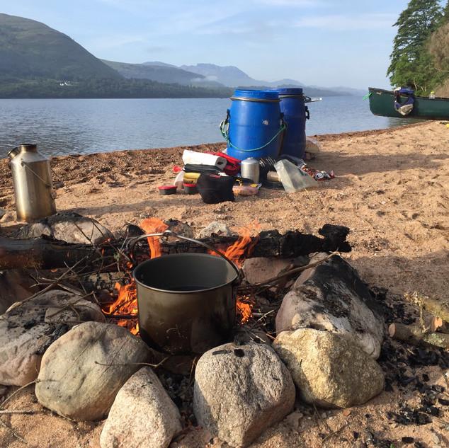 Lochside camp, Scotland