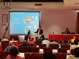 Dr Thomas Hilton and Dr Keith Hosking at theKenyan Orthopaedic Conference