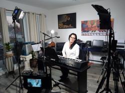 tournage d'un cours de piano