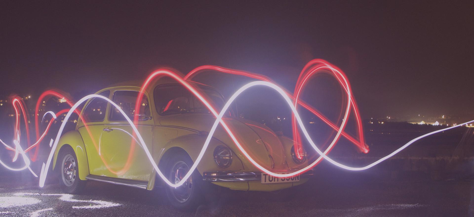 Gelbes Auto