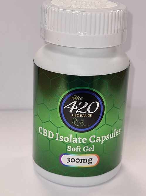 CBD Isolate Gel Capsules 300mg