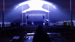 Tent stage setup