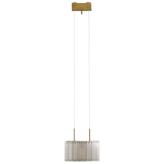 Swedish Mid-Century Modern Pendant in Glass and Brass by Falkenbergs