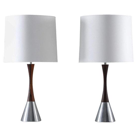 Pair of Scandinavian Midcentury Table Lamps by Bergboms