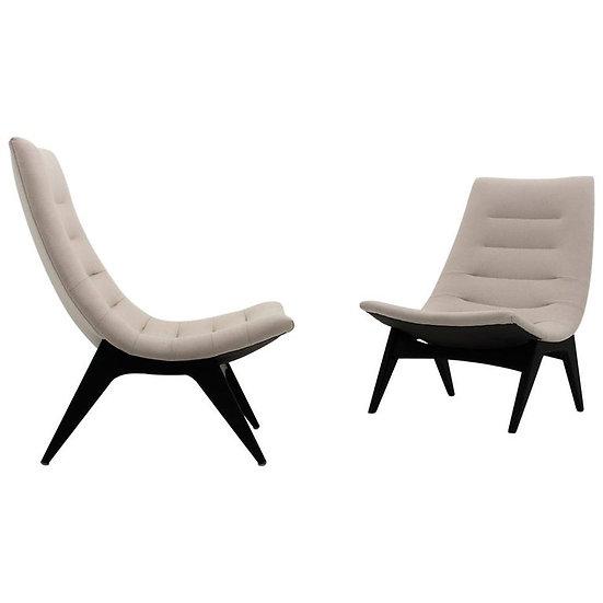 "Pair of Scandinavian Lounge Chairs ""755"" by Svante Skogh for Ope Möbler, Sweden"
