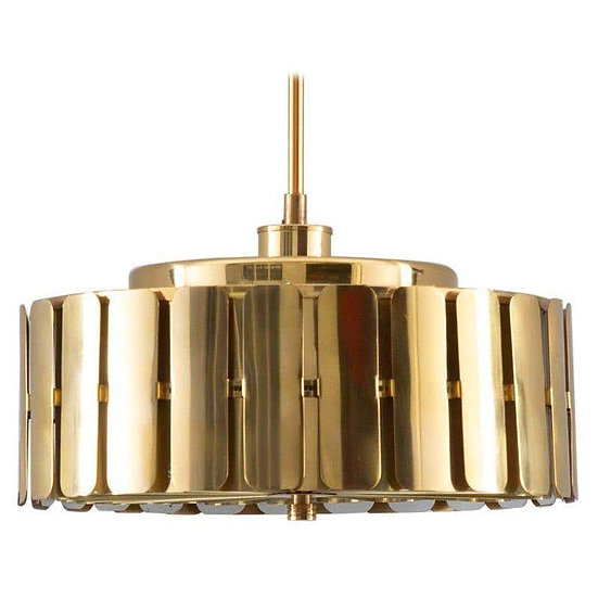 Swedish Midcentury Pendant in Brass by Konsthantverk Tyringe, 1960s